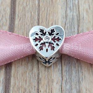 Autêntica 925 libras esterlinas grânulos de floco de neve encanto do coração encantos único estilo europeu jóia de Pandora pulseiras Colar 796359CZ