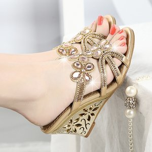 Chaussures Wedge Sandales Femme Hauts talons Sandales Haut Grade Sandalia Feminina Sandales cristal Chaussures