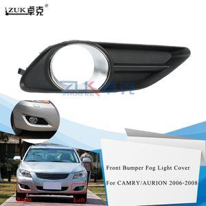 ZUK передний бампер противотуманные фары Обложка для TOYOTA CAMRY Aurion 2006 2007 2008 Fog Lamp Hood Обрезка Foglight Гарнир