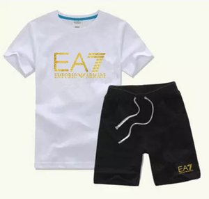 New Style Children's Clothing For Boys And Girls Sports Suit Baby Infant Short Sleeve Clothes Kids Set 2-6T