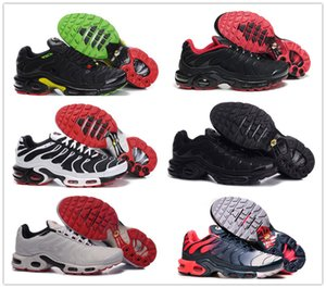 New venda em 2020 do clássico original Tn Shoes Mens Sneakers respirável malha Air Tn Chaussures Maxes Requin Sports Trainers Zapatillaes