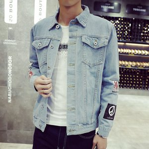 Designer Jean Jacket 2019 Mens Denim Jacket High Quality Fashion Jeans Jackets Slim Casual Streetwear Vintage Mens Jean Clothing M -2xl
