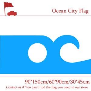 USA Maryland Ocean City Flagge Schwarz 3x5FT 150x90cm Drucken 100D Polyester Indoor Outdoor Dekoration Flagge mit Messingösen Kostenloser Versand