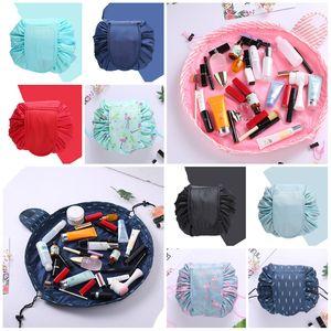 Hot 16 large capacity lazy drawstring cosmetic bag portable travel folding bag common household items storage bag T3I5530