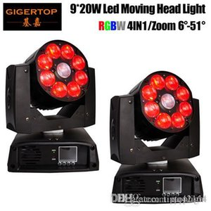 Gigertop 2 unités LED 9x20w RGBW 4in1 Moving Head Light Professional DJ / Bar / Party / Afficher Zoom 6-51 Degree Grand Angle