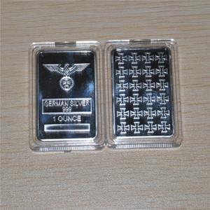 1ounce 999 alpaca Una onza troy de plata alemana Reichsadler barra del lingote 5pcs / lot liberan el envío