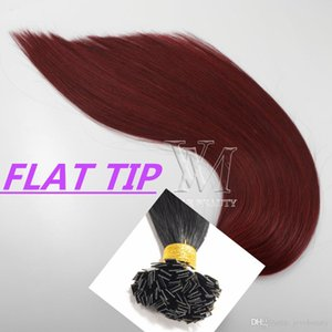 100% Virgin Remy Single Donor Double Drawn Top Quality Piano color #35 #99J Flat I U Tip Straight keratin Glue Human Hair Extensions