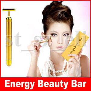 Barre de beauté Energy Bar de beauté 24K Gold Pulse raffermissant Massager Facial Roller Massage Facial Massage Corporel Relaxation Avec Boîtes