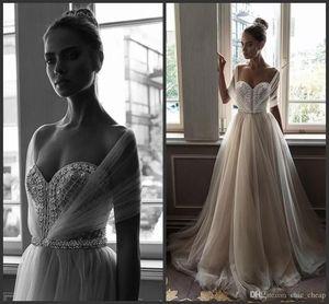 Elihav Sasson 2019 비치 아랍 웨딩 드레스 아가 하트 목걸이 진주 페르시 라인 줄리 플러스 사이즈 신부 가운