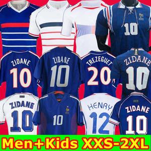 Alto 2002 casa 1996 2000 1998 2006 Francia maglia della camicia 2004 Retro BAMBINI VINTAGE calcio Trézéguet ZIDANE HENRY Maglia FOOT Ribery Djorkaeff
