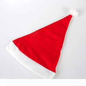 Cheap Merry Christmas Hats Santa Claus Costume Xmas Party Hat for Adults and Children 100pcs Lot Christmas Decoration Hats Party Cosplay Hat