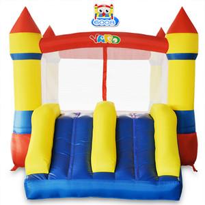 YARD homse uso nylon casa do salto mini-castelo bouncy brinquedos ligação em ponte inflável moonwalk trampolim com ventilador