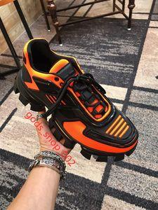 Prada 2020 Männer Low Top Freizeitschuhe hococal Cloudbust Donner Lace up-Designer-Schuhe 19FW Kapsel Serie Farbabmusterung Plattform Luxus Turnschuhe