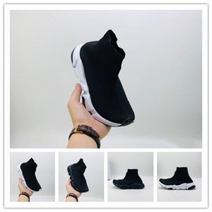 2020 kids Designer Shoes Socks platform Speed Trainer Casual of triple Red white Flat Infant sports Sneakers fashion size 24-35