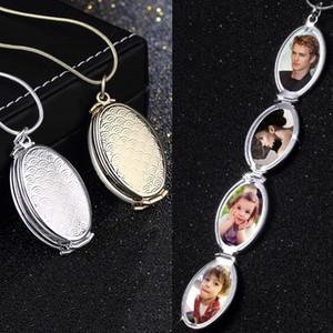 Photo Box Dichiarazione collane delle donne degli uomini Magic Photo Pendant Floating memoria Espansione Locket della foto della collana Fashion Box