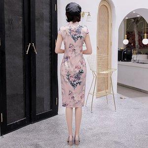 Amazon heiße Art beliebte Designer-Design Chinese cheogsam Retro-Stil traditionelle Elemente Stehkragen Seidenstoff