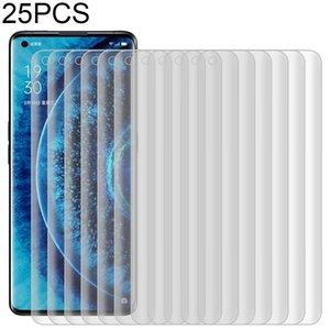 25 PCS para OPPO Find Pro X2 9H HD 3D de borde curvado de vidrio templado de Cine