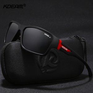 KDEAM diseño inconfundible gafas de sol polarizadas deporte para hombres gafas de sol recubrimiento fresco lente Anti-colisión caso incluye Y200420