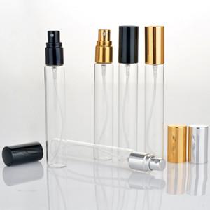Горячий рынок мини-флаконы для образцов духов 15 мл стекло путешествия пустые бутылки распылителя с черным золотом Серебряная крышка на продвижение