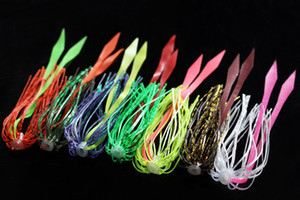 Tigofly 7 pcs 7 colors Silicone Skirts SpinnerBait Buzzbait Squid Rubber Jig Lure Baits Fishing Lures Accessories