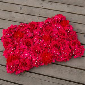 40 centímetros * 60 centímetros Simulação flor linha Hydrangea Row Flower Background parede flor de parede Tapete do casamento arranjo adereços Dream Wedding Decorations