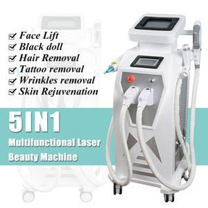 SHR laser opt depilazione pelle scura yag nd macchina di rimozione del tatuaggio del laser dluce trattamento pigmentazione SHR macchina rimozione delle rughe laser