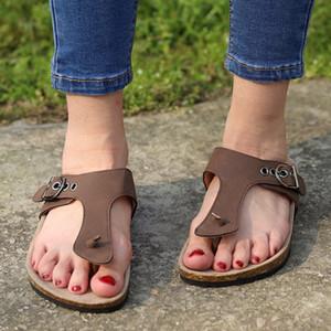 YOUYEDIAN femmes dames d'été Flip talon plat confortable Flops Sandales Slipper plage Chaussures Zapatos de mujer de moda 2019 de # 4