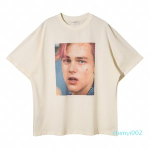 Spring Summer America movie Star Leonardo Photo T shirt Men Women High Quality Oversize Fashion Cotton Tshirt Streetwear Designer Tee t01c02