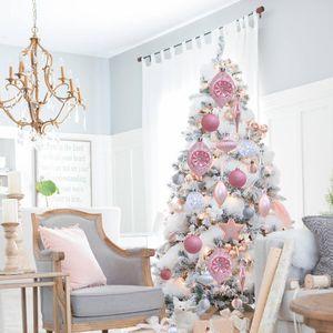PATIMATE Kunststoff Weihnachtsbaum Anhänger Weihnachtsdekoration für Haus Weihnachtsbaum Ornament Verzierung Navidad 2019