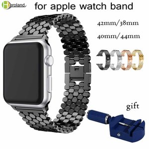 link Stainless Steel Strap for apple watch band 42mm 38mm 40mm 44mm bracelet watch band for iwatch bands series 4 3 2 1 strap