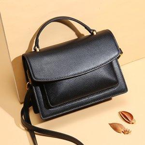 High Quality 2019 Fashion  Genuine Leather Handbags Casual Female Bags real leather Tote Shoulder Bag Ladies Handbag 22cm
