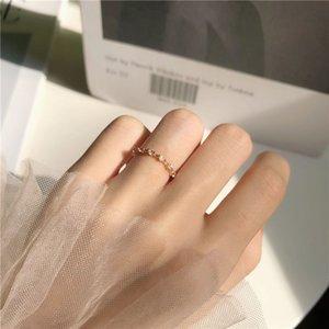 Korean-Style Star Moon Ring Женский белый камень Регулируемые кольца Симпатичный женский студент Ins Минималистский Прохладный Чистая Красный Малые ювелирные изделия