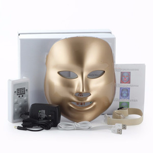 Vente chaude Or 7 Couleurs Photon Thérapie Visage Masque Machine Light Therapy Acné Masque Beauté Led Masque