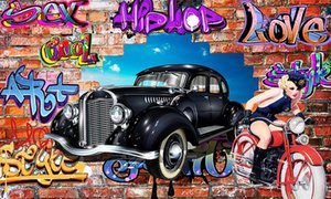 Mural de coche de lujo personalizado para paredes 3 d para habitación de niños sala de estar dormitorio foto pared mural papel pintado moderno 3d grande