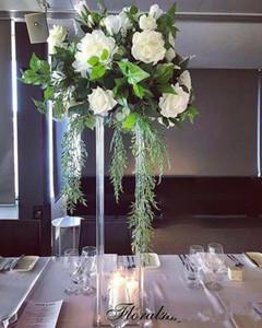 Wedding la decorazione del centro sereno Fiore stand Fiore Matrimonio cristallo acrilico Vaso stradali Colonna piombo Props Pillar