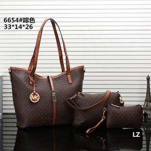 Heißen Verkauf-neuesten Art-Frauen-Kurier-Beutel Totes Taschen Lady Composite-Beutel-Schulter-Handtasche Pures Walle 3 PC / set # 6654