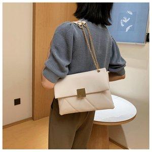 Las mujeres rombo cadena del cuero de los bolsos del cubo pequeño de hombro ocasional de la PU monedero Wild Light Mujer Daily Messenger Bag