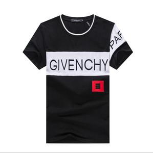 2020 YENİ Sıcak Satış Tişört Erkekler Shortsleeve Stretch Pamuk jersery Tee Erkek Nakış Kaplan Baskılı Kuş Yılan Ekip Yaka T -Shirt # 3615