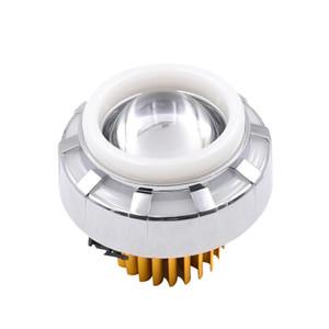 Motocicleta LED 30W 12-85V 1200LM farol olho anel anel halo elegante luzes de luzes de nevoeiro (rosa e azul)
