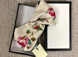 Дизайнер марки шелковые эластичные женщины повязки моды роскошь девушки цветы волос полосы шарф аксессуары для волос подарки горячие лучшие заголовки S904