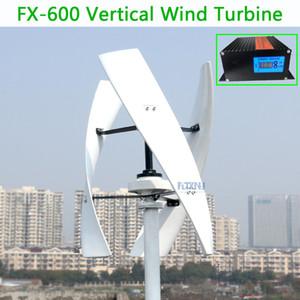 600w dikey rüzgar türbini maksimum 650W 12v 24V 48V 1,5 gürültü, yüksek verimli, 250 rpm'de başlangıç