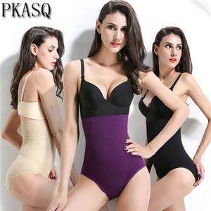 PKSAQ 2019 Nuevas mujeres Cintura alta Tuck Talle de la cintura Bragas que dan forma Transpirable Body Shaper que adelgaza la ropa interior de la panza