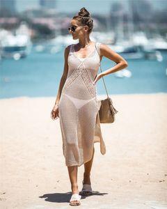 Womens Casual Bikini Beach Smock Split Fashion Cutout Knitting Camisole Ladys Summer Holiday Sun Shirt 2020 New Arrive Top0.0