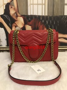 2019 arrived Women Marmont shoulder bags women luxury gold chain crossbody bag handbags Hearts designer high quality female message bag 27cm
