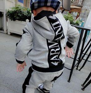 KIDS SETS HOODIES MANGA LONGA ROUPA DE BEBÊ MENINOS 24M-7T