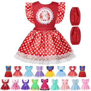 17 Farben Baby-Lätzchen Kleinkind Niedlich Eingefroren Kleid Spucktücher wasserdichter Säugling Smock Prinzessin Cosplay Schürze + sleeve freies Schiff