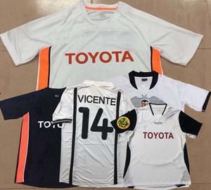 Retro classic 2000 2001 2003 2004 2006 2007 2009 2010 Camisola De Valencia soccer VICENTE angulo MENDIETA DAVID VILLA Aimar de futebol S-2XL