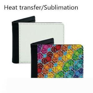 A Sublimation wallet heat press men wallet diy purse PU leather blank money bag best for diy customized