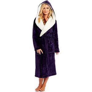 Femmes peignoir coton robe de nuit robe de nuit d'hiver femme allongée coralline peluche peignoir de peignoir à manches longues manches longues # 4 y200425
