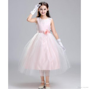 Hot Sale Pink Ball Gown Flower Girl Dress Prom Formal Pageant gown Party Gown First Communion Dresses Vestidos De Comunion